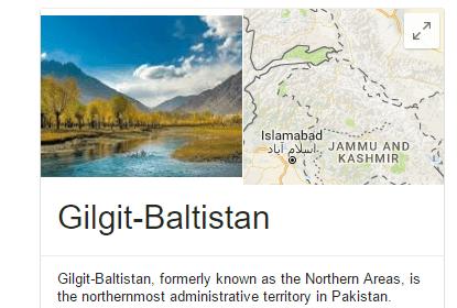 Gilgit Baltistan Status In Pakistan