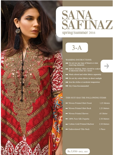 Sana Safinaz Lawn Summer Collection 2016-7