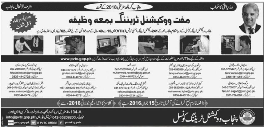Vocational Training Programs In Lahore Pakistan