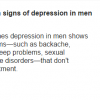 Signs Of Depression In Men Like Symptoms Of Male Depression