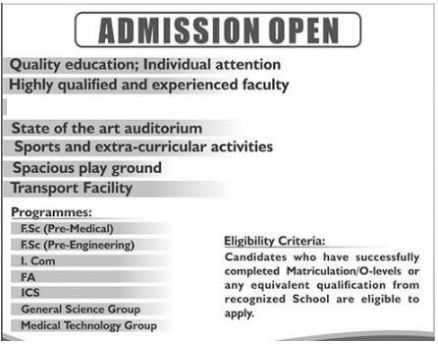 Eligibility Criteria Should Consider After 10th Class In Lahore