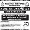 Fazaia College For Education For Women Admission Open FA FSc ICS ICOM