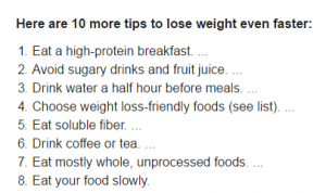 How To Lose Weight Fast Diet Plan