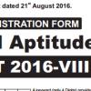 National Aptitude Test NAT 2017 VIII Admission Registration Form Free Download