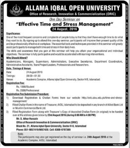 Effective Time And Stress Management