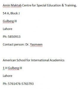 Special Children Schools In Lahore
