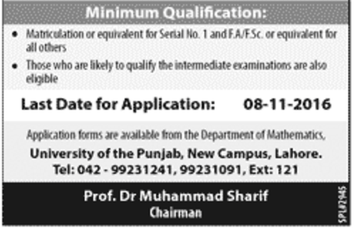 contact-last-date-to-apply-and-minimum-qualification-for-punjab-university