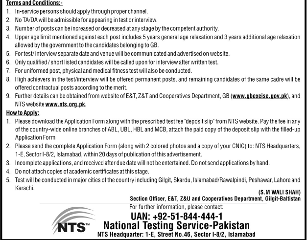 terms-for-candidates-of-excise-and-taxation-gilgit-baltistan-jobs-2016