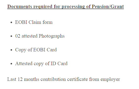 documents-requirements-for-processing-of-eobi-pension-or-grant