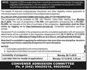 important-dates-and-notes-for-students-of-postgraduate-admission-2016-uet-lahore