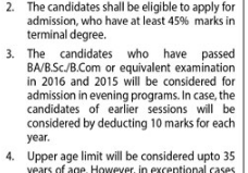 llb-3-years-evening-program-eligibility-criteria-in-lahore-notice-for-2016