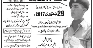 Cadet College 2017 Admission In Murree