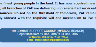 Contact Details For Join Pakistan Air Force After MBBS