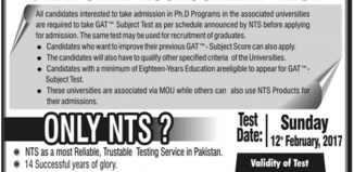 General Information About GAT General Phd admission In 2017