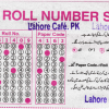 Punjab Boards 9th Class Roll Number Sheet Sample In Annual Exam 2017