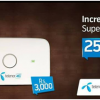 Telenor 4G Hotspot Packages 25GB In 1500 Monthly