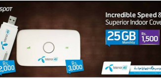 Telenor 4G Hotspot Packages Available Here