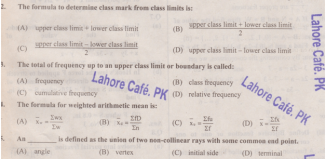 Math 10th Class Model Paper Objective
