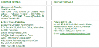 Tour Operators Travel Agents In Pakistan