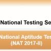 National Aptitude Test NAT 2017 Online Registration Application Submission Date