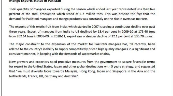 How To Export Mangoes From Pakistan To Australia, USA, UK, Canada, Dubai
