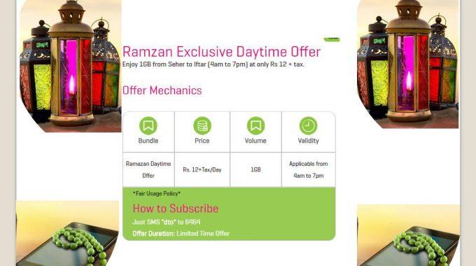 Zong Ramzan Offer 2017 Ramadan Daytime Internet Offer 1GB Seher To Iftar