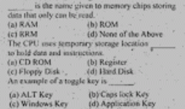 BSc Computer Science Guess Paper 2018 Punjab University